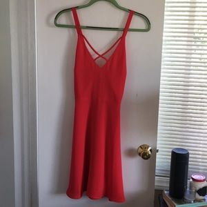 Cute strappy red dress -Lush, Size M - NEVER WORN!
